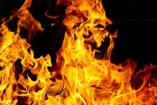 Пожар вспыхнул навещевом рынке вКизилюрте