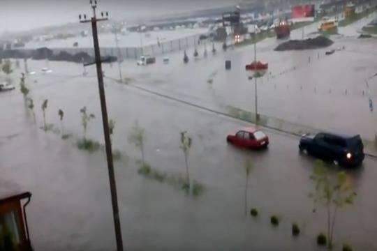 Видео изСеверной Осетии: Владикавказ ушел под воду